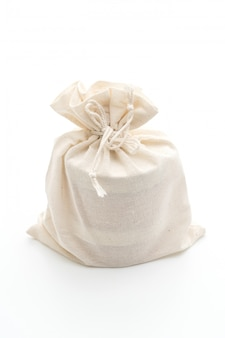Bolsa de tecido branco