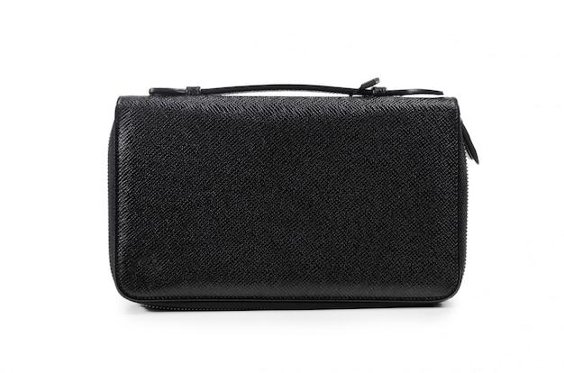 Bolsa do homem elegante couro preto elegante