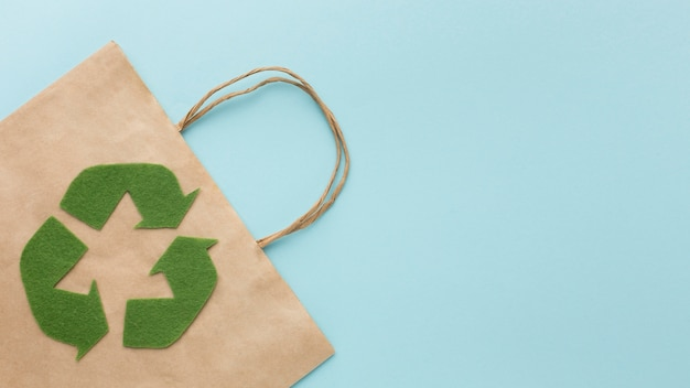 Bolsa ecológica com cópia espaço