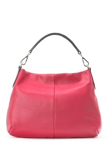 Bolsa feminina bolsa feminina sobre um branco