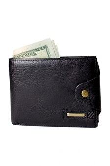 Bolsa preta com dinheiro