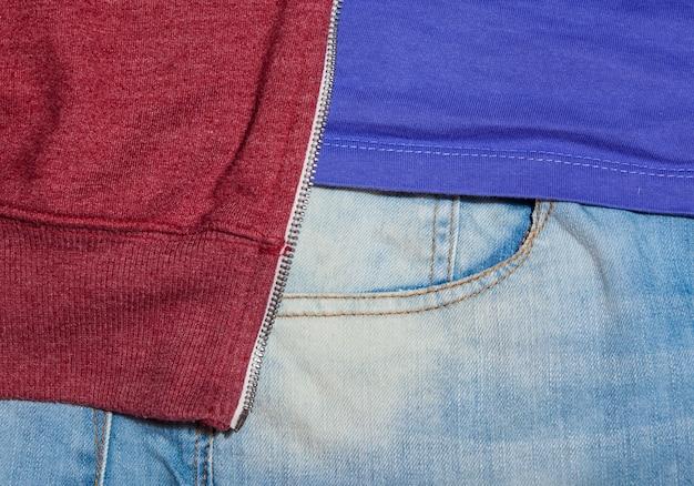 Bolso de jeans para o fundo