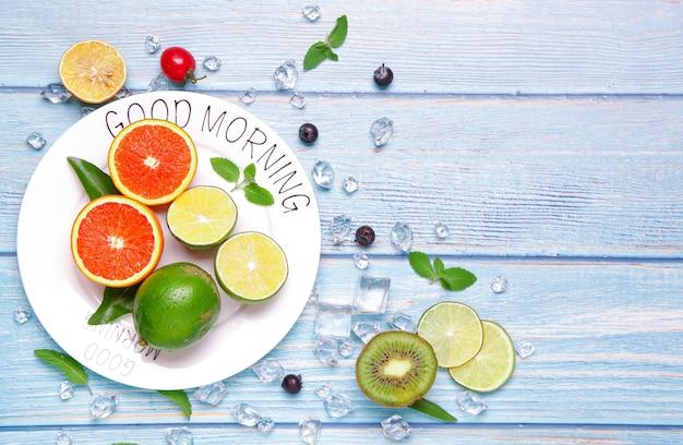 Bom dia fruta fresca.