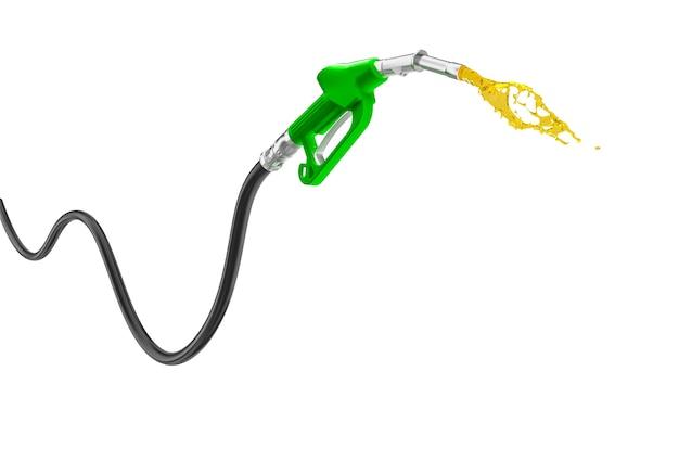 Bomba de gasolina isolada em renderização 3d branca