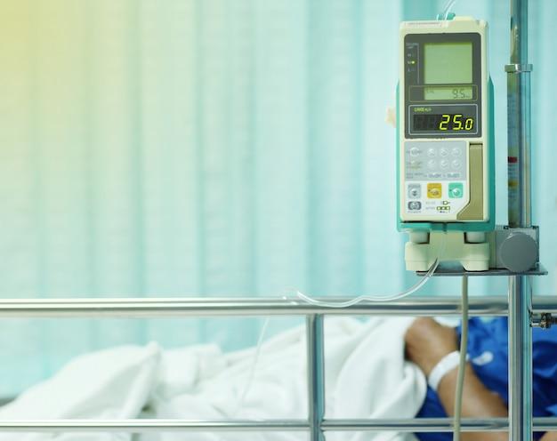 Bomba de infusão no hospital
