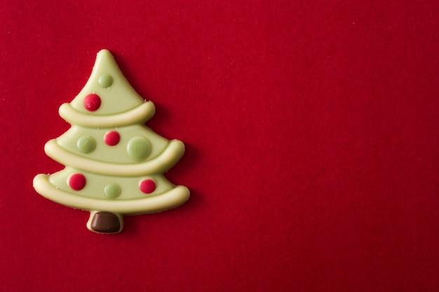 Bombom de chocolate de árvore de natal