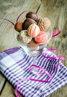 Bombons de chocolate de luxo