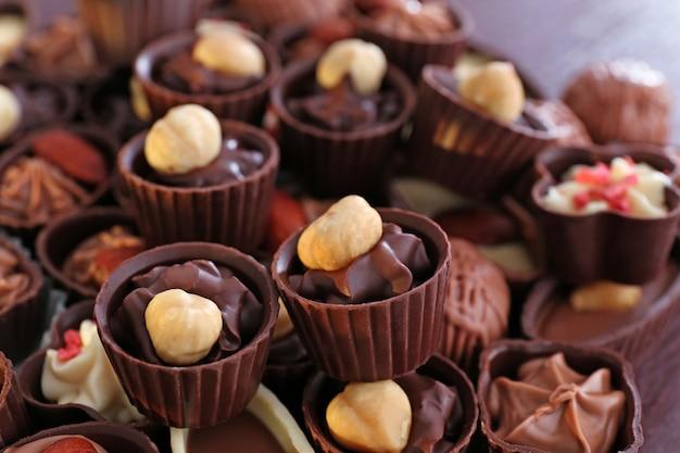 Bombons de chocolate deliciosos