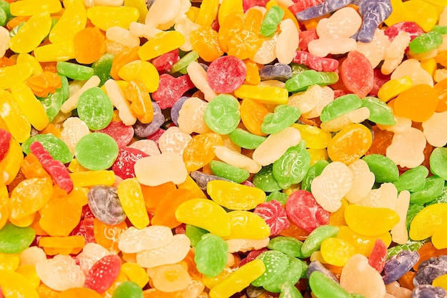Bombons de goma multicoloridos