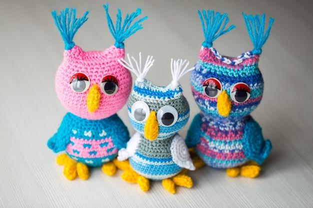 Boneca coruja tricotada