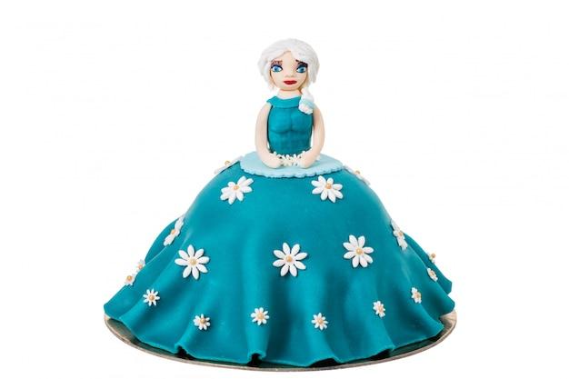 Boneca em forma de um bolo.