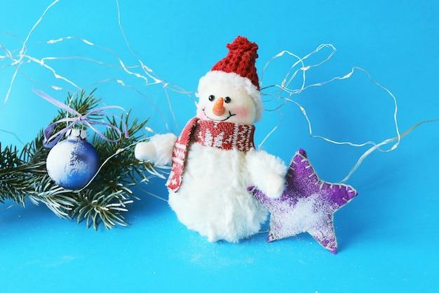 Boneco de neve brinquedo decorações de natal firtree ramos iluminação e neve