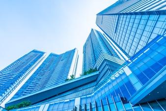 Bonito, arquitetura, negócio, escritório, predios, exterior