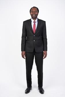 Bonito empresário africano de terno