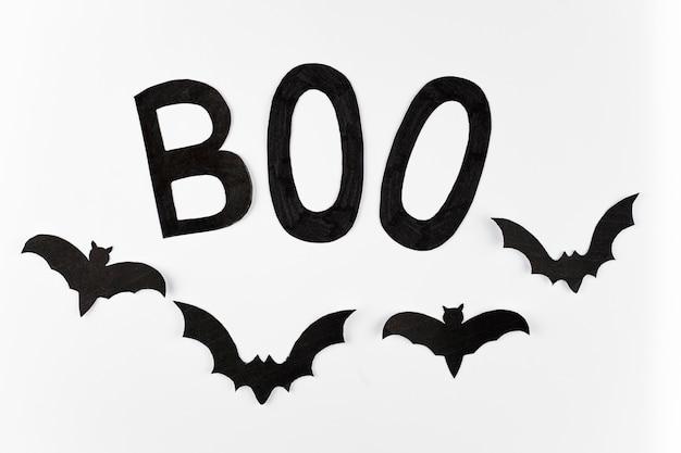 Boo palavra e morcegos