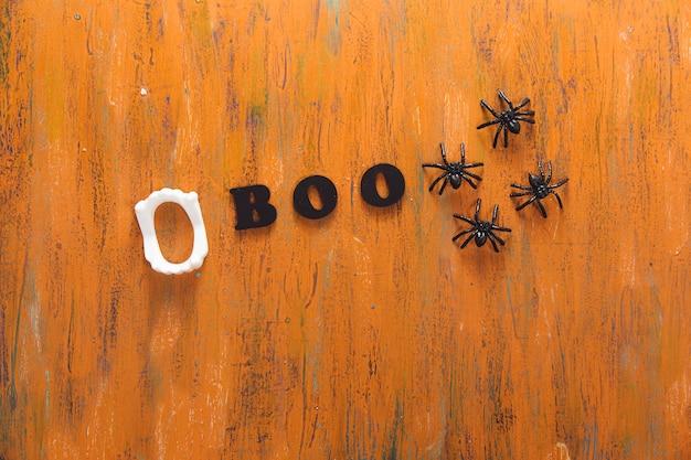 Boo superscription e aranhas