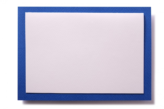 Borda azul de cartão de convite de natal