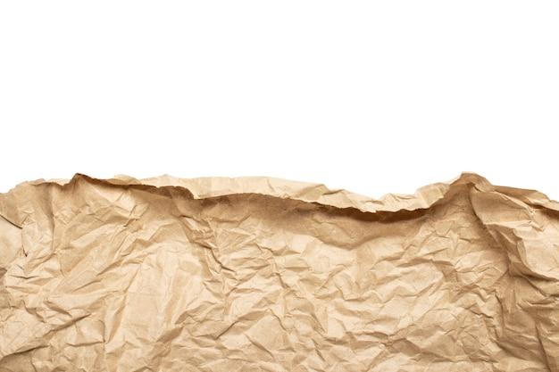 Borda da textura de papel ofício amassado