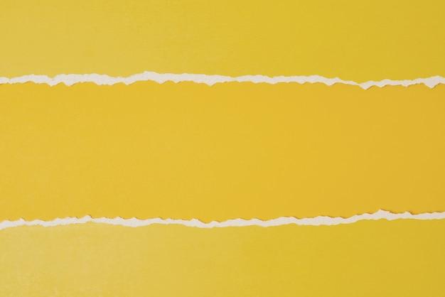 Borda de papel rasgado rasgado com espaço de cópia, cor amarela