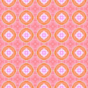 Borda sem costura tropical desenhada de mão. design de verão chique de boho maravilhoso laranja. padrão sem emenda tropical. estampado avassalador pronto para têxteis, tecido para biquínis, papel de parede, embrulho.