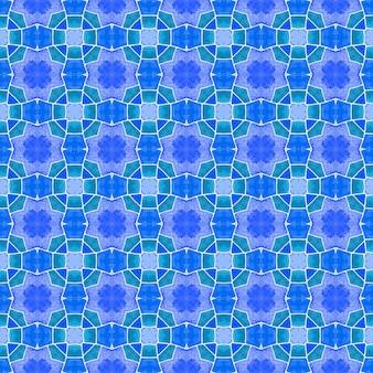 Borda sem costura tropical desenhada de mão. projeto chique do verão do boho perfeito azul. padrão sem emenda tropical. têxtil pronto para estampado extático, tecido de biquíni, papel de parede, embrulho.