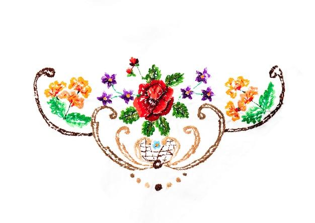 Bordado artesanal e artesanal