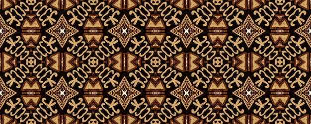 Bordado geométrico. brown hipster vintage seamless pattern.
