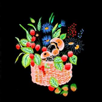 Bordado ucraniano à mão ornamento folclórico bordado desenho de bordado em estilo retro