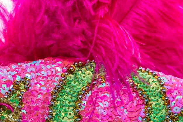 Bordados de lantejoulas de cores e brilhos para o carnaval