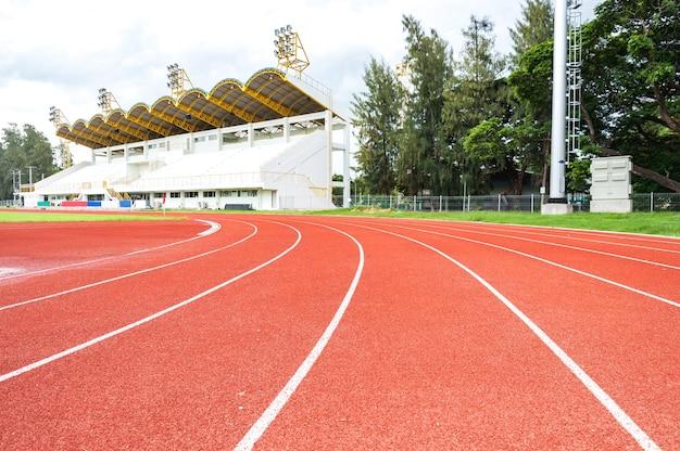 Borracha de pista de corrida no estádio