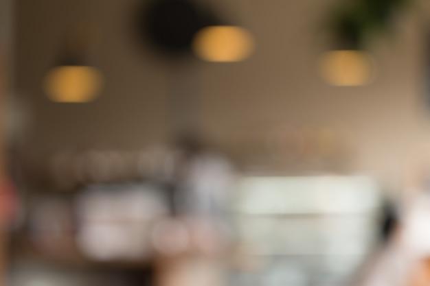 Borrada da loja de café para um fundo abstrato