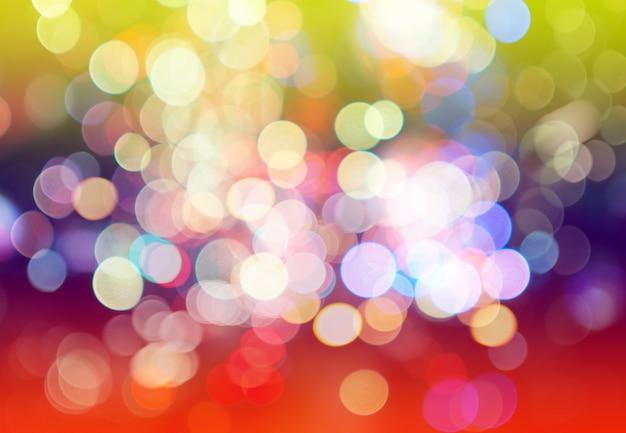 Borradas de bokeh colorido luz abstrato