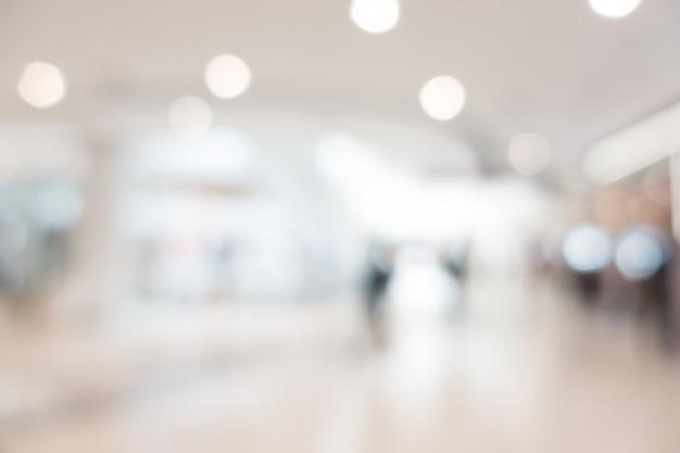 Borrão abstrata e bokeh shopping e lojas de varejos