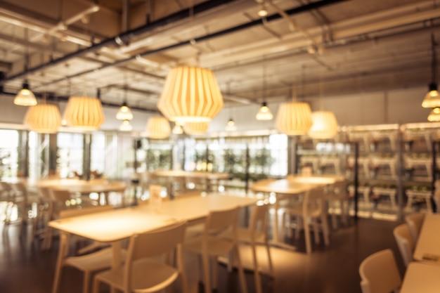 Borrão abstrata e café café desfocado e restaurante