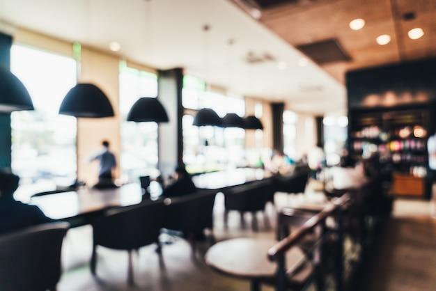 Borrão abstrata e café desfocado e café restaurante