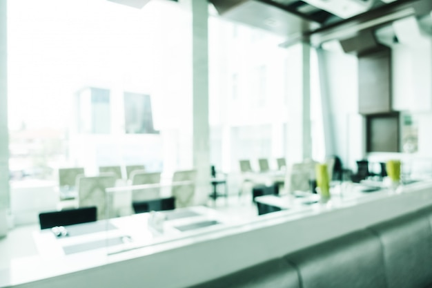 Borrão abstrata e decoração de luxo desfocado no interior do restaurante