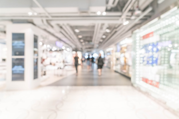 Borrão abstrata e desfocado shopping de luxo e loja de varejo