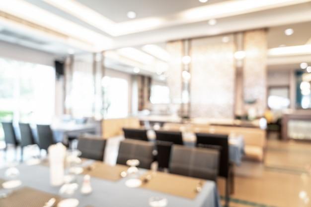 Borrão abstrata e restaurante do hotel desfocado para plano de fundo