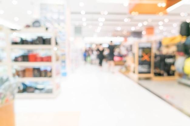 Borrão abstrata em shopping de luxo