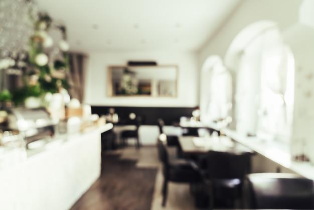 Borrão abstrata no restaurante do hotel