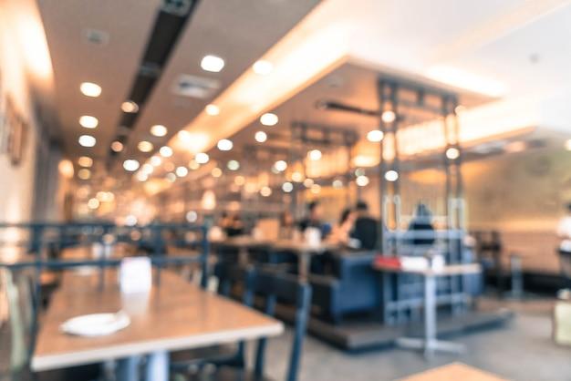 Borrão abstrata no restaurante
