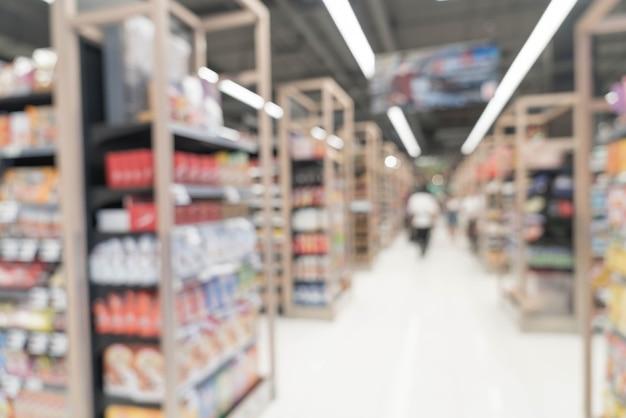 Borrão abstrata no supermercado