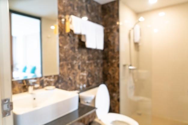 Borrão abstrato banheiro e banheiro