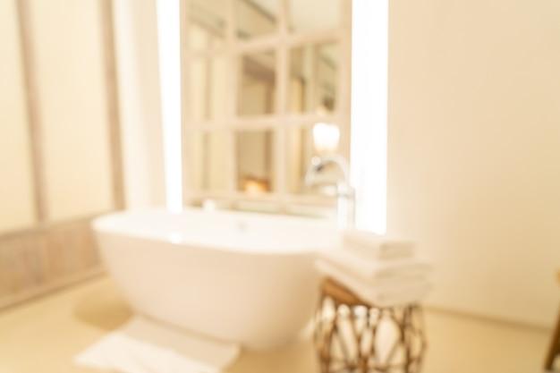 Borrão abstrato banheiro luxuoso em resort de hotel para segundo plano