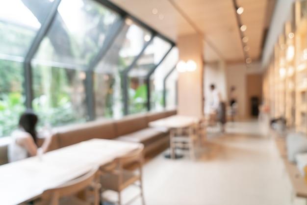 Borrão abstrato café café e restaurante para plano de fundo com espaço de cópia
