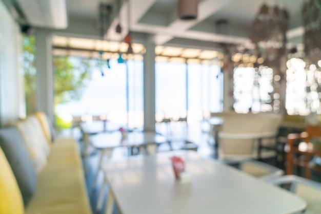 Borrão abstrato café restaurante para segundo plano