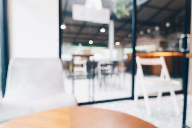 Borrão abstrato cafeteria e café
