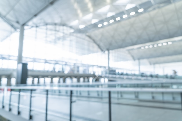 Borrão abstrato e aeroporto desfocado