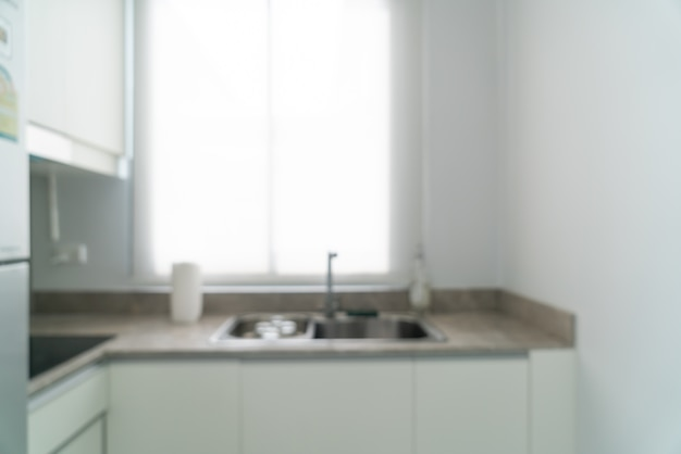 Borrão abstrato e cozinha desfocada para