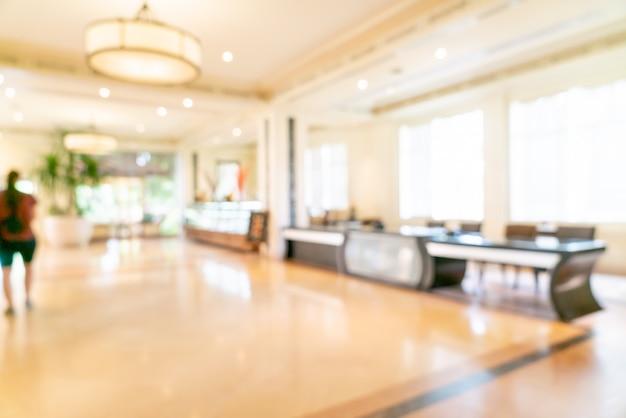 Borrão abstrato e lobby do hotel de luxo desfocado